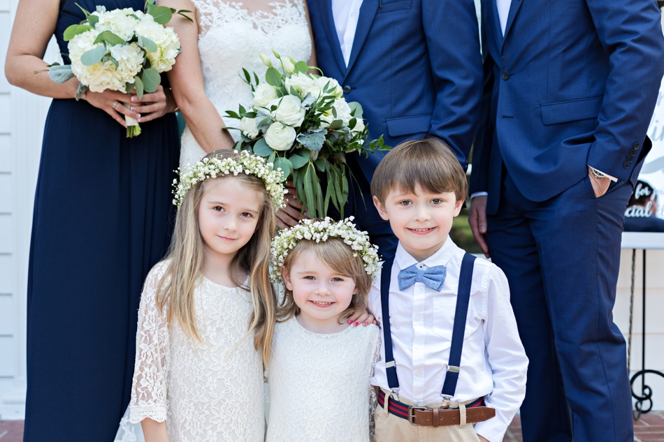The kids at a wedding