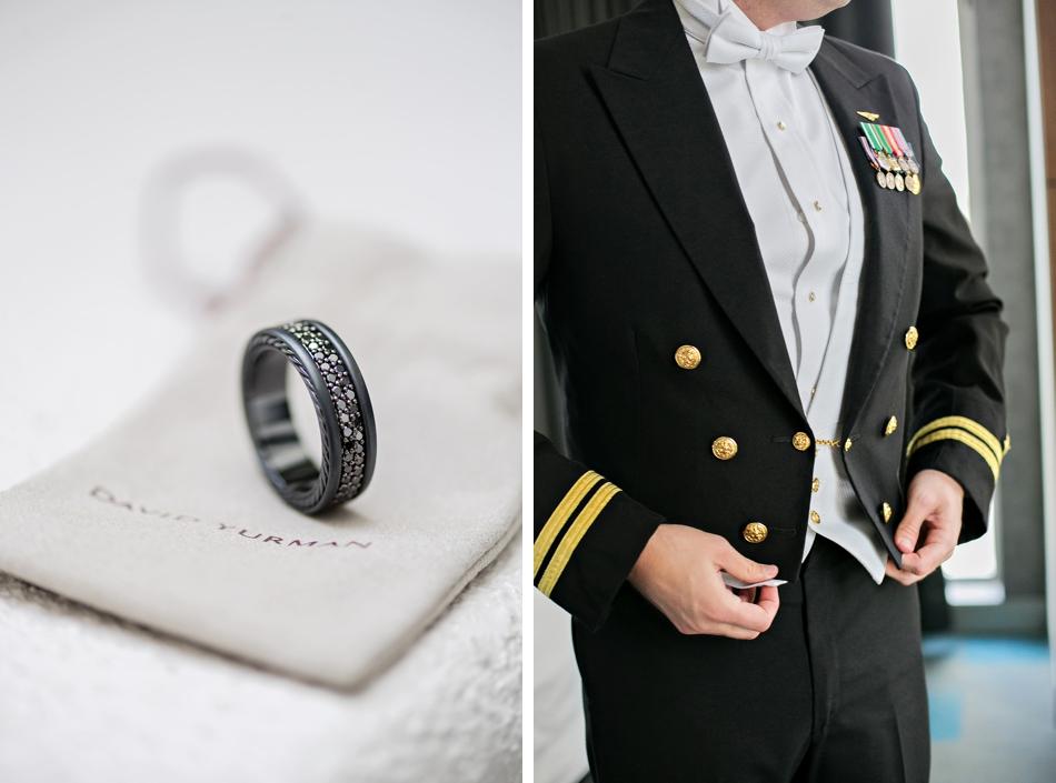 Gunmetal grooms rings