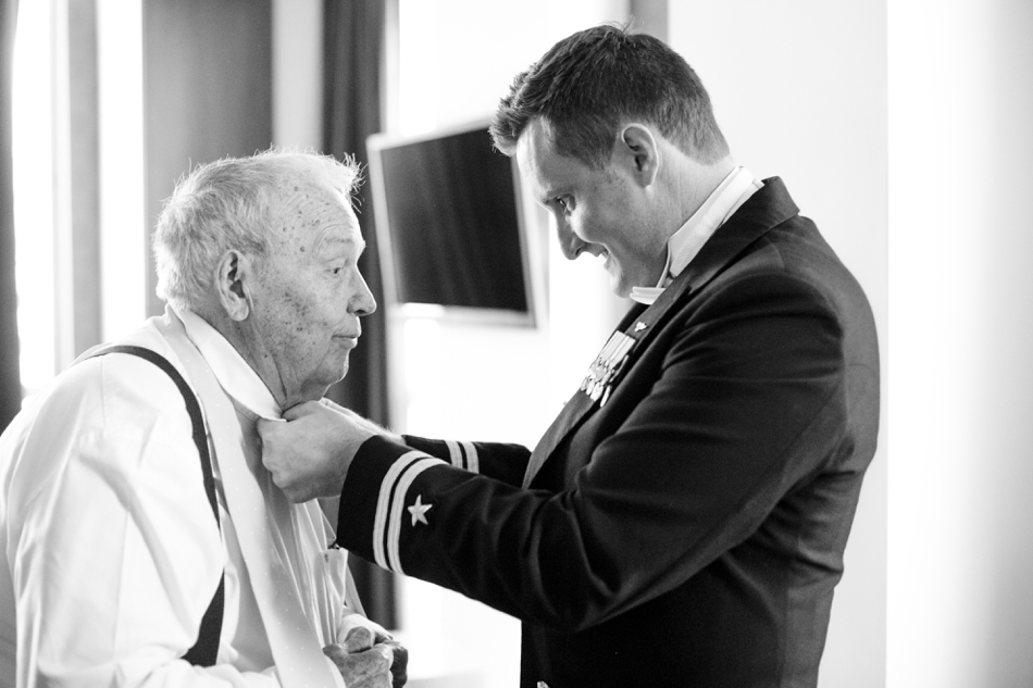 Grandfather on wedding day
