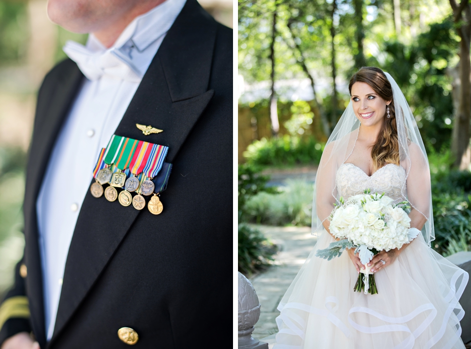 Medals on grooms tux