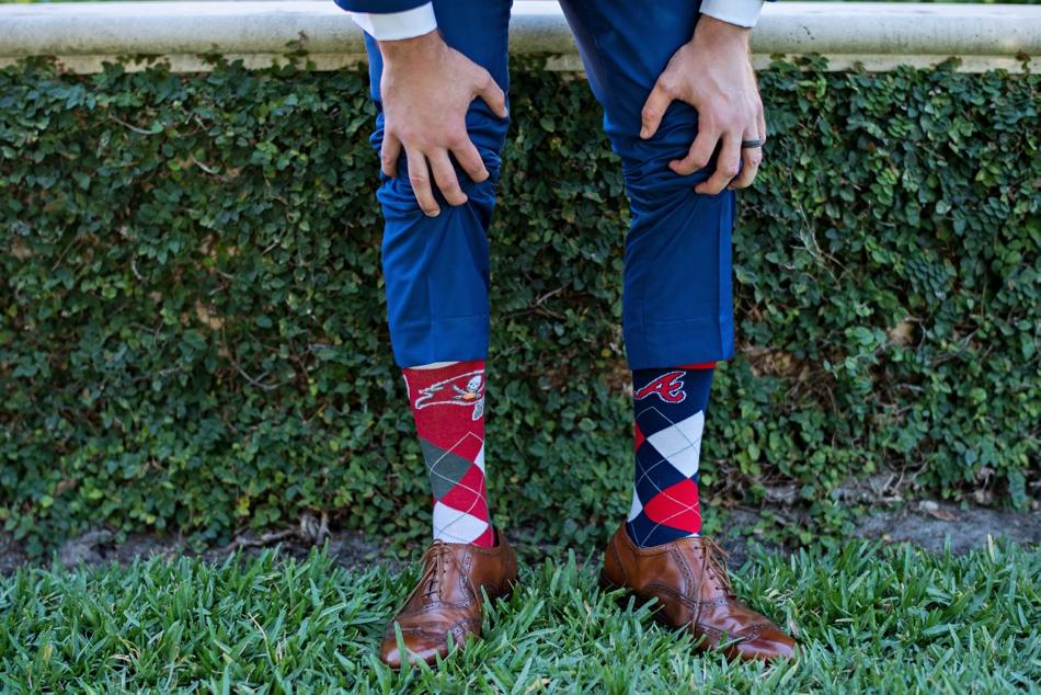 Grooms sock choice