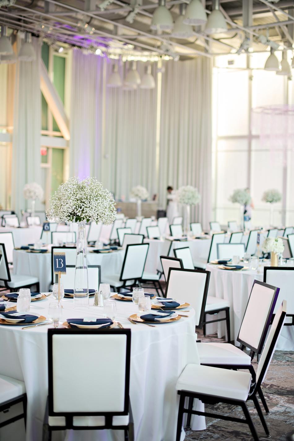 Crisp white wedding