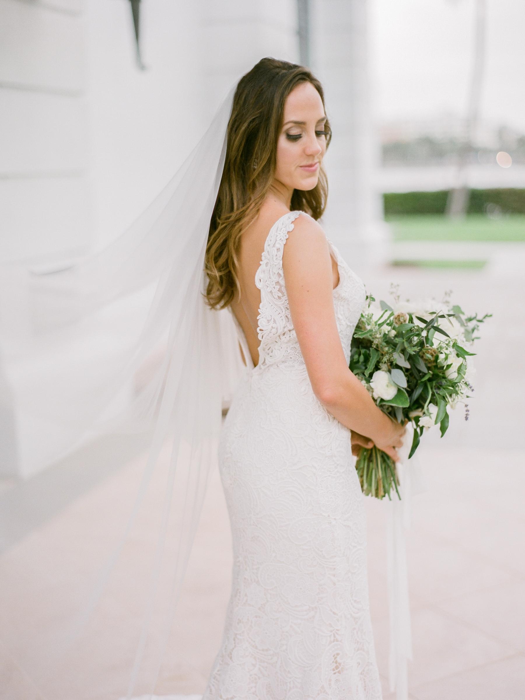 Bridal portraits on film