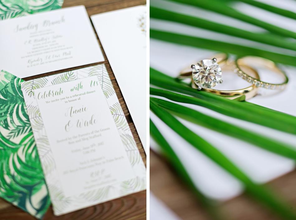 tropical invitation stationery