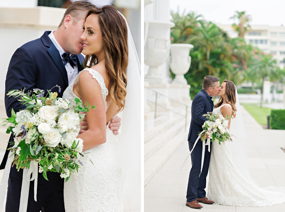 green and blue wedding