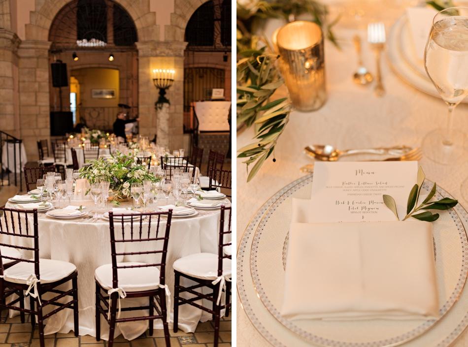 romantic ballroom reception