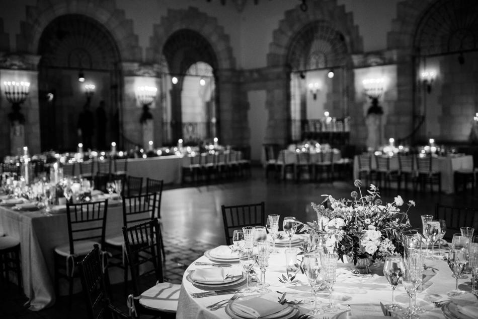 black and white reception photos