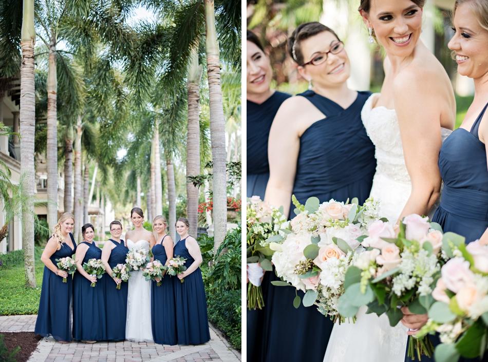 navy bridesmaids dress ideas