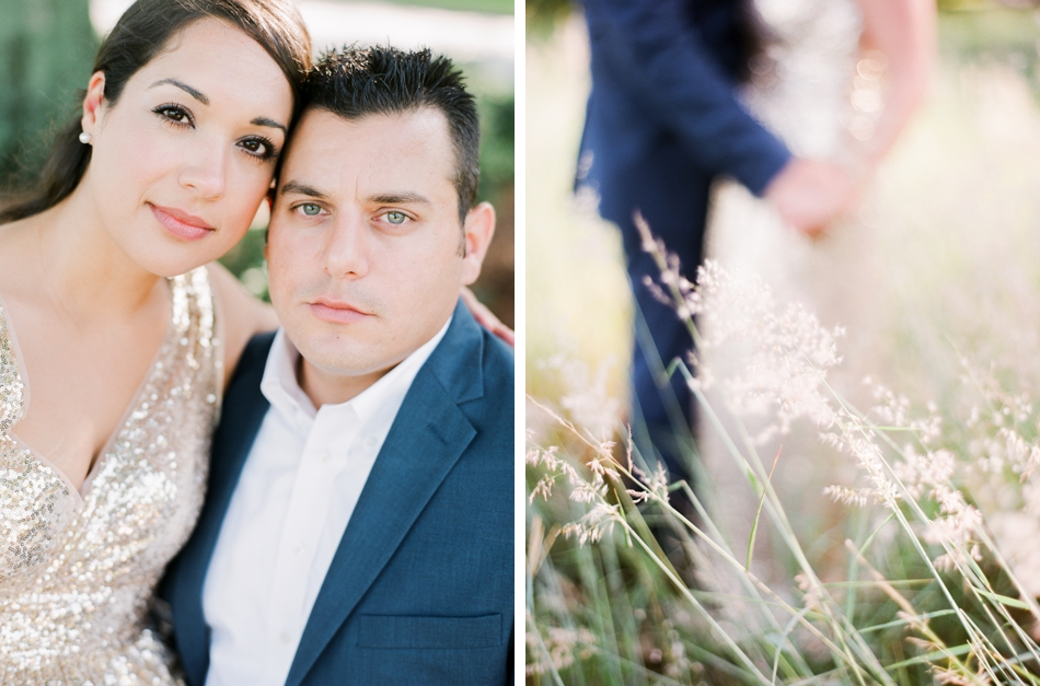 glamorous outdoor engagement session
