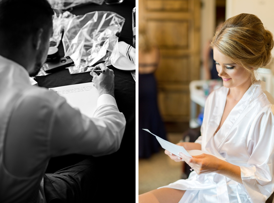 bride and groom love notes