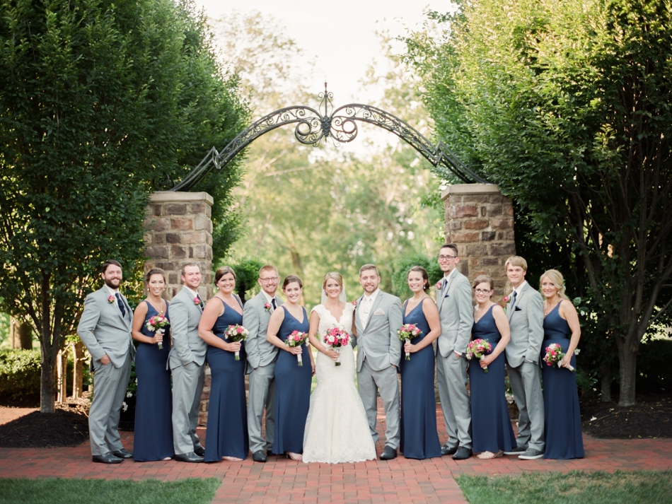 navy blue wedding party