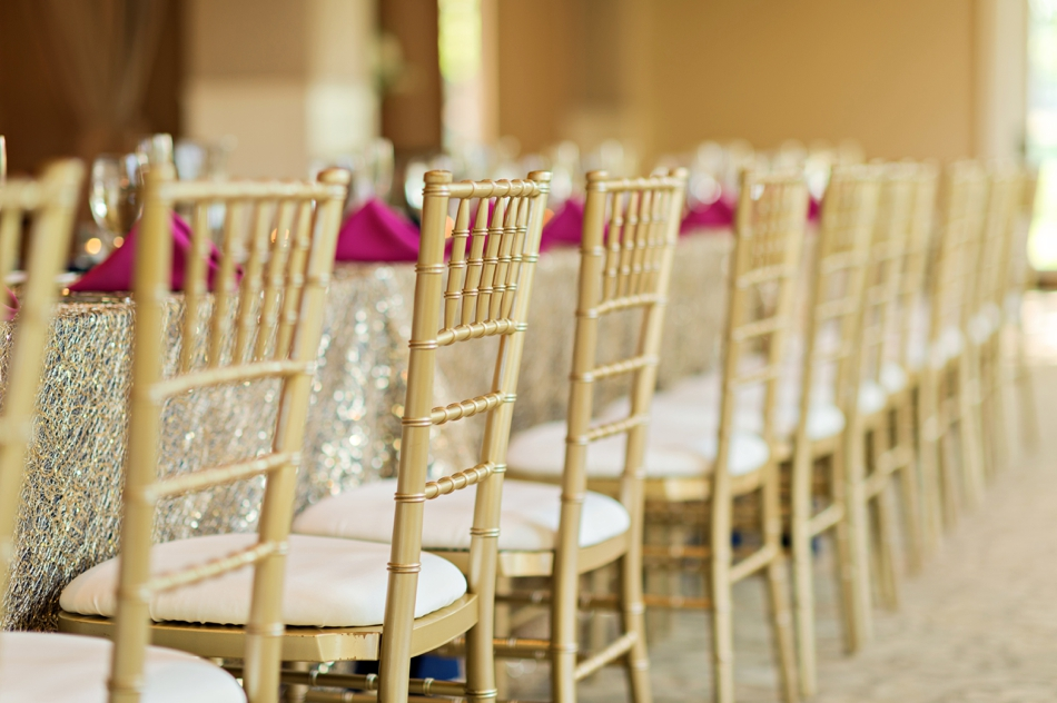 gold wedding chairs