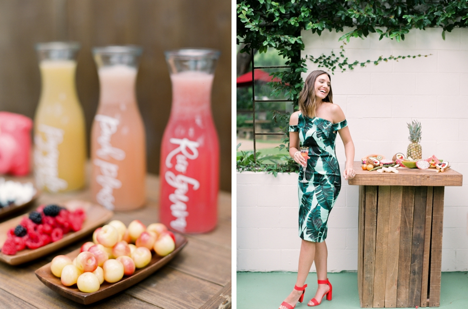 tropical rehearsal dinner ideas
