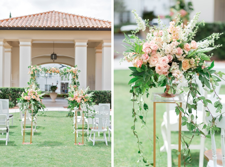 peach wedding flower ideas