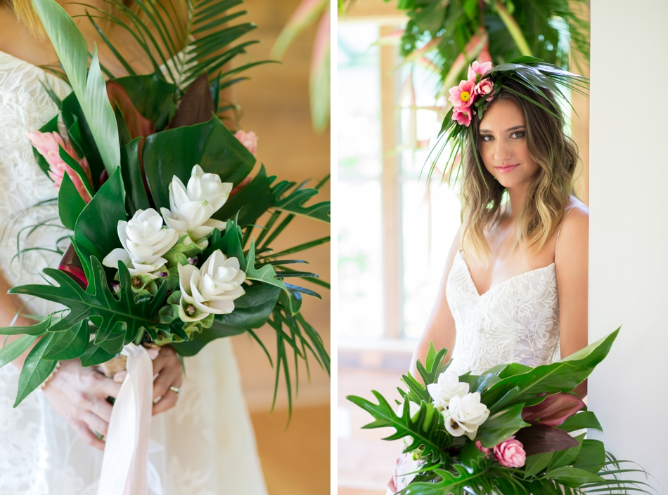 tropical wedding bouquet inspiration