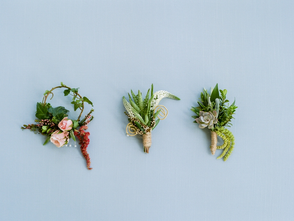 mix and match boutonnieres