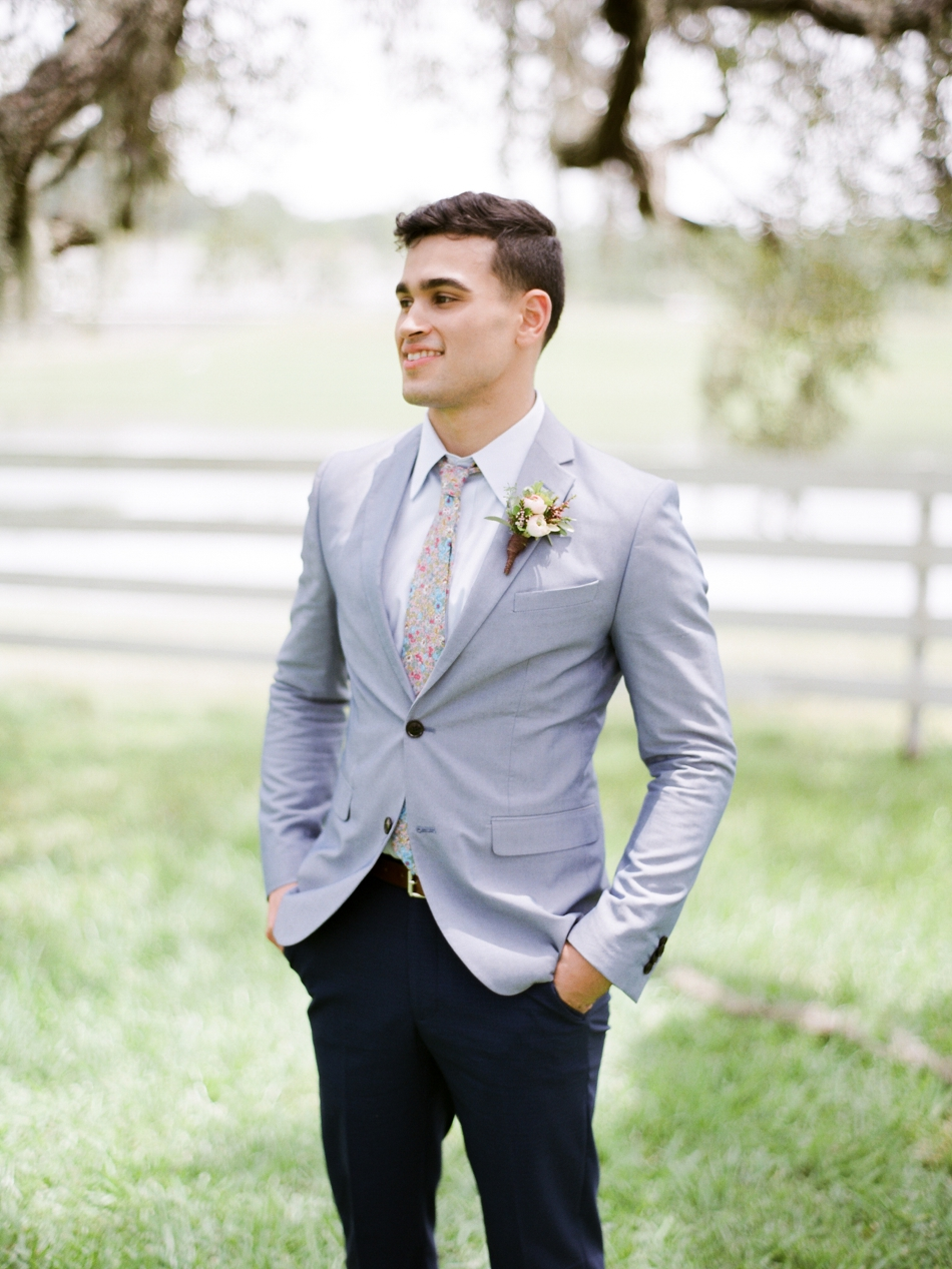 relaxed groom attire