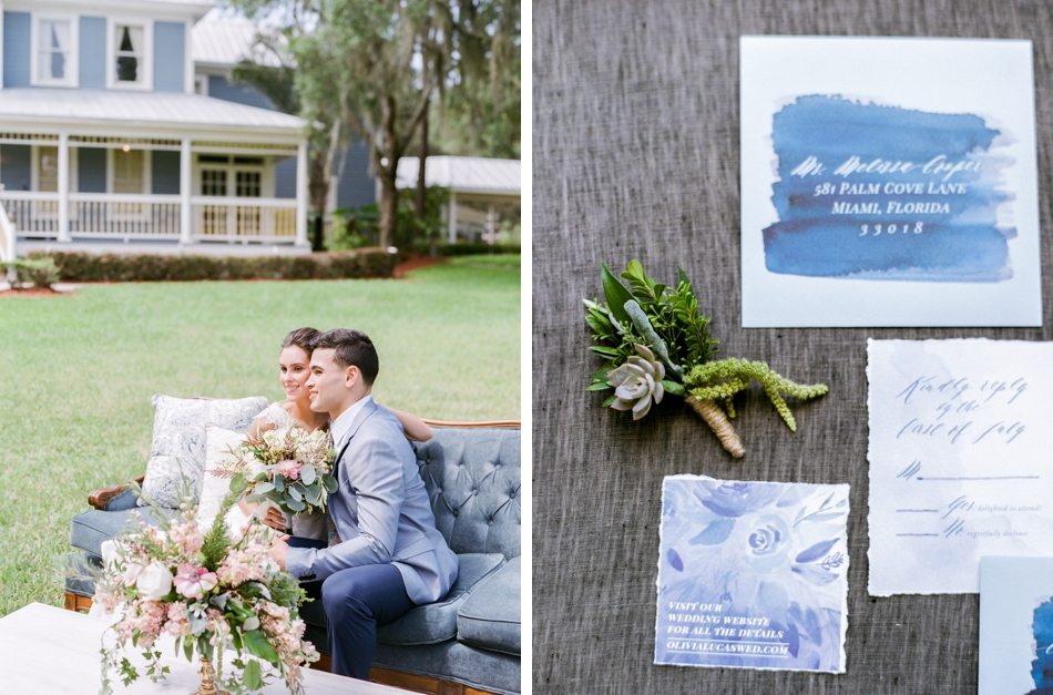 watercolor stationery suite wedding