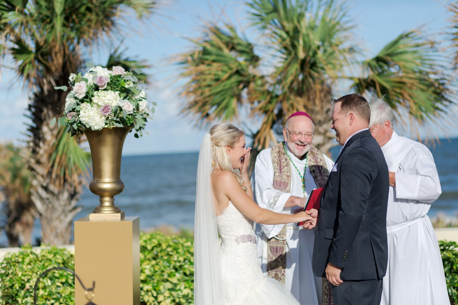 beach ceremony at hammock beach resort