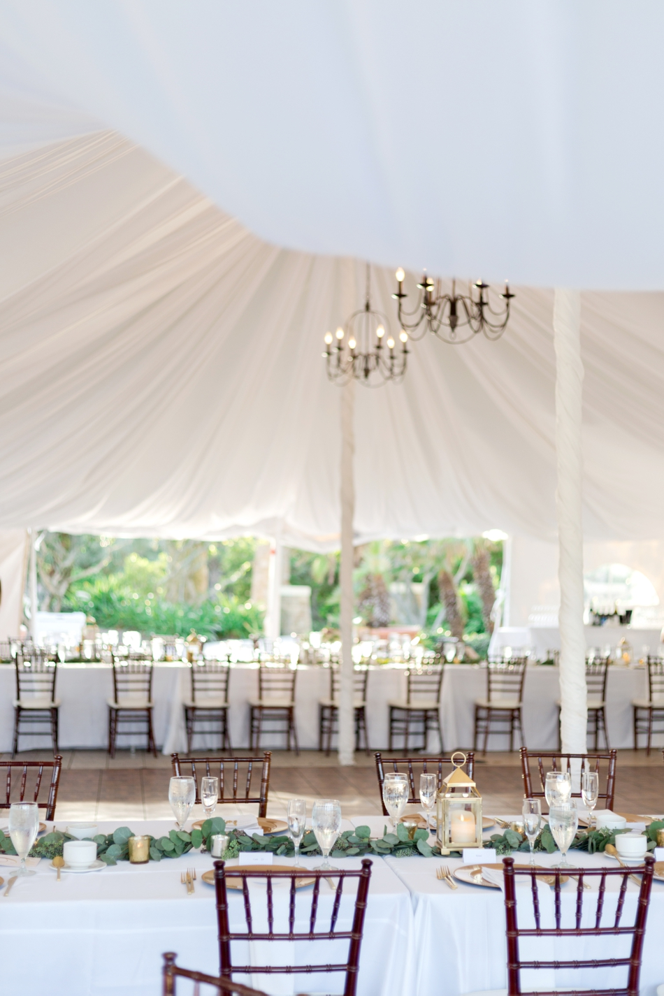 tented reception at hammock beach