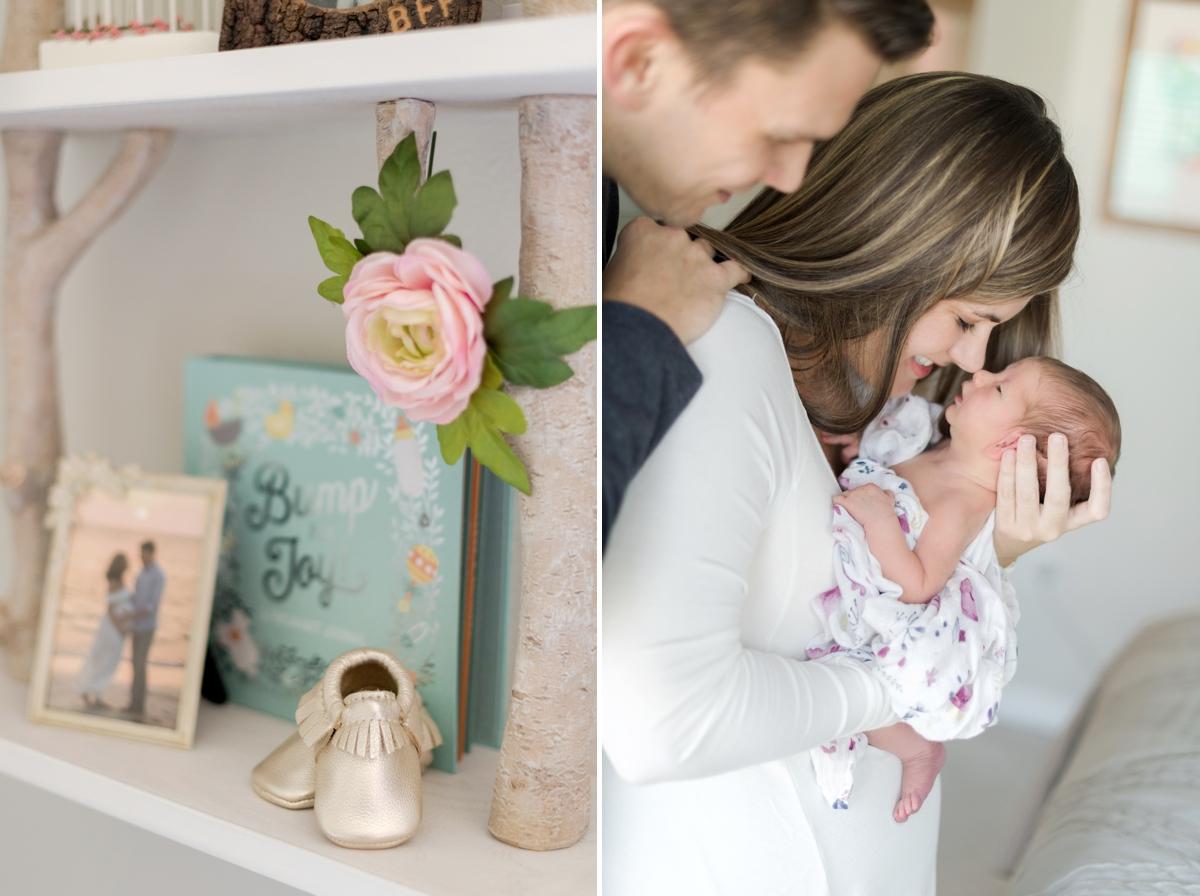 relaxed newborn portraits