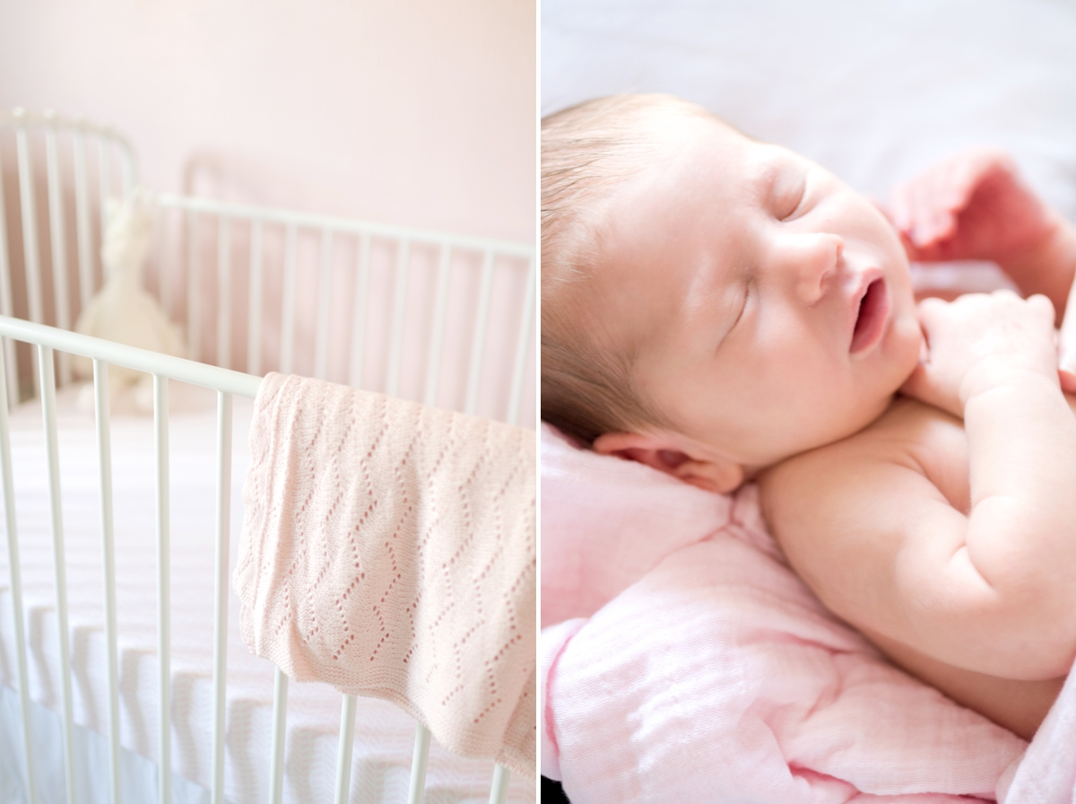 pink newborn photo shoot