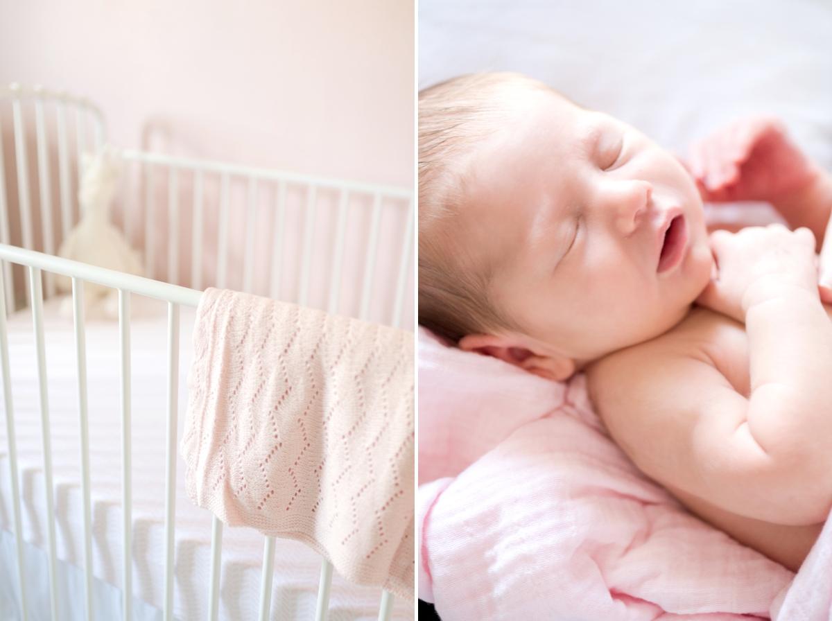 pink newborn photo shoot