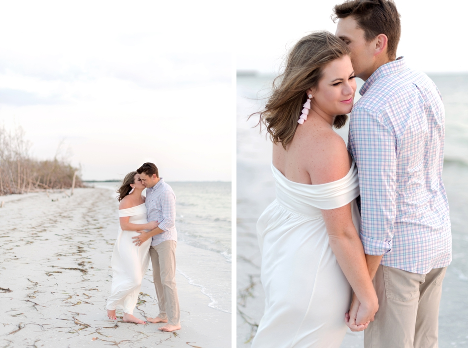 beach maternity session florida