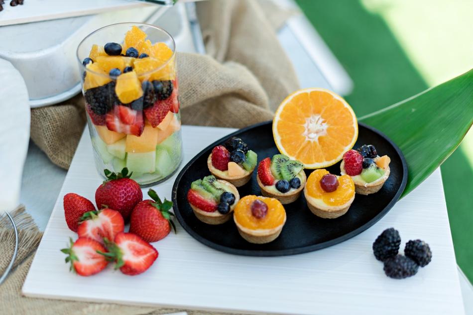 fruit tart display