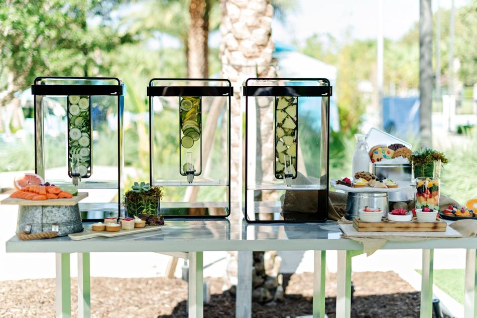infused water display