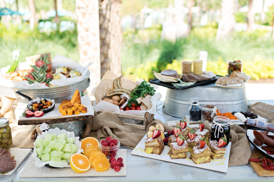 fruit and dessert table