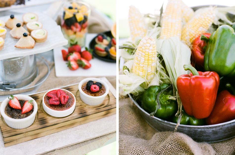 food display for wedding guests