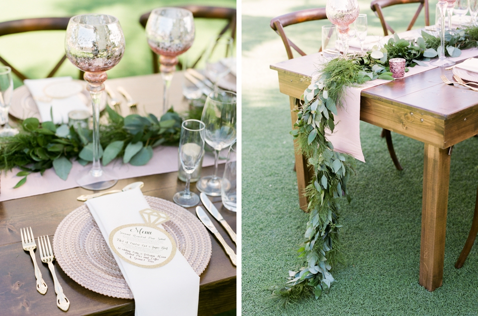 farmwood table for wedding