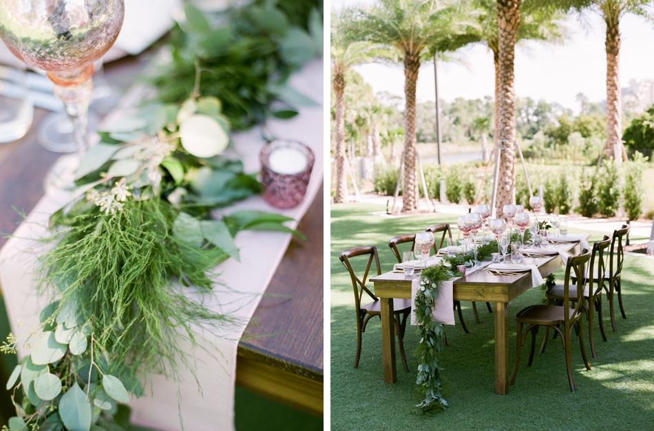 farmwood wedding reception table