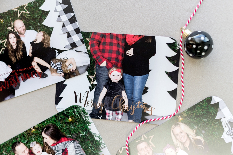 holiday cards with foil