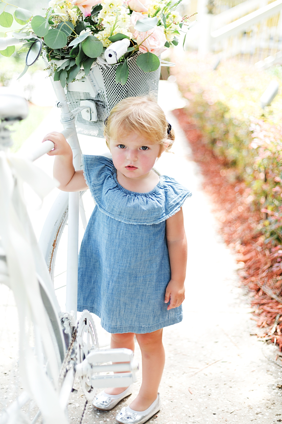 chambray flower girl dress