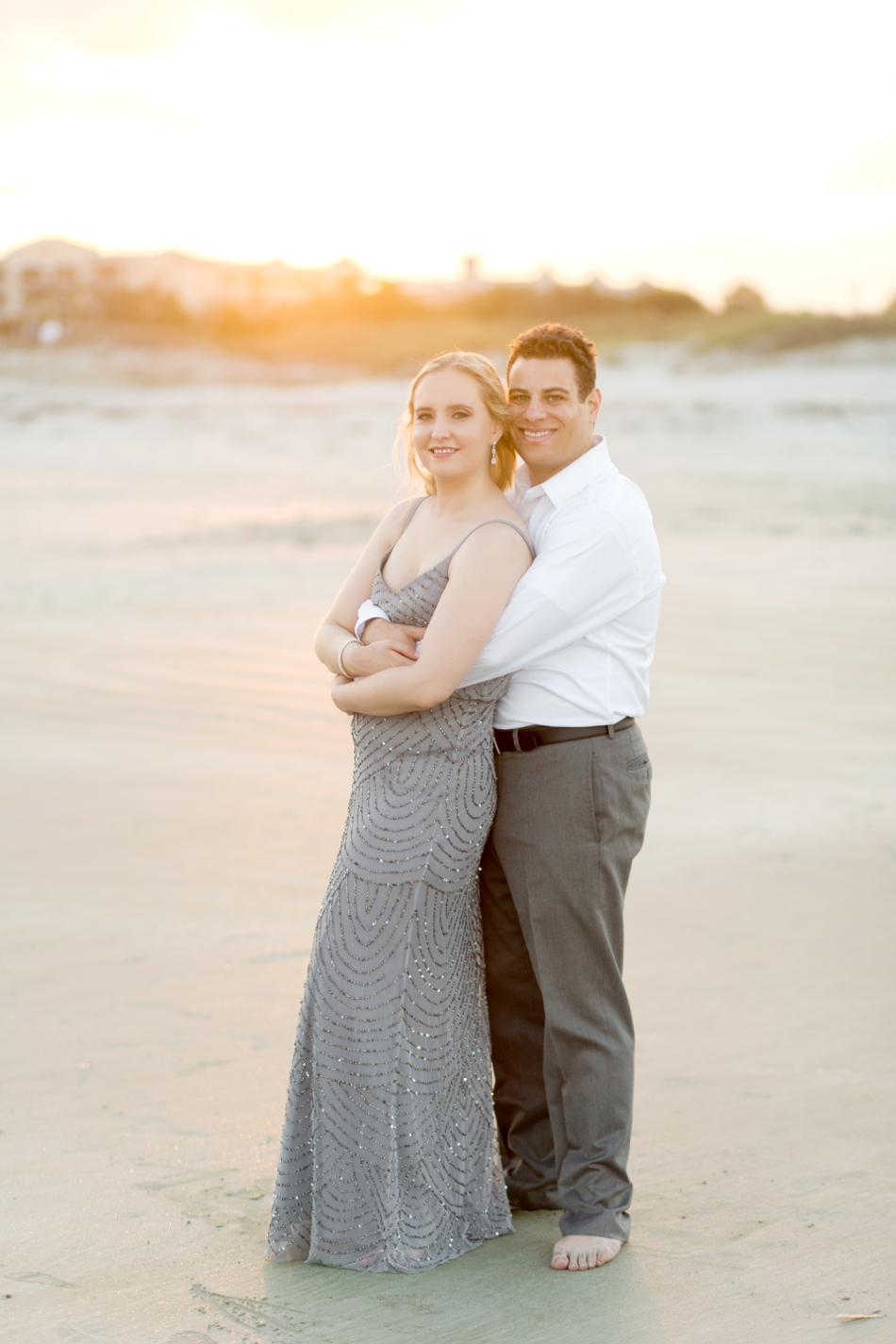 beach sunset engagement