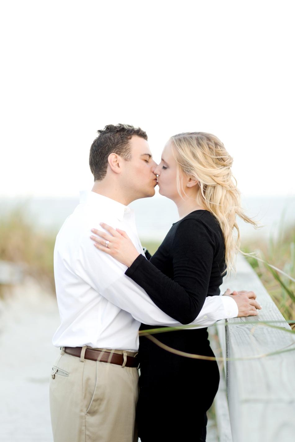 romantic boardwalk engagement session
