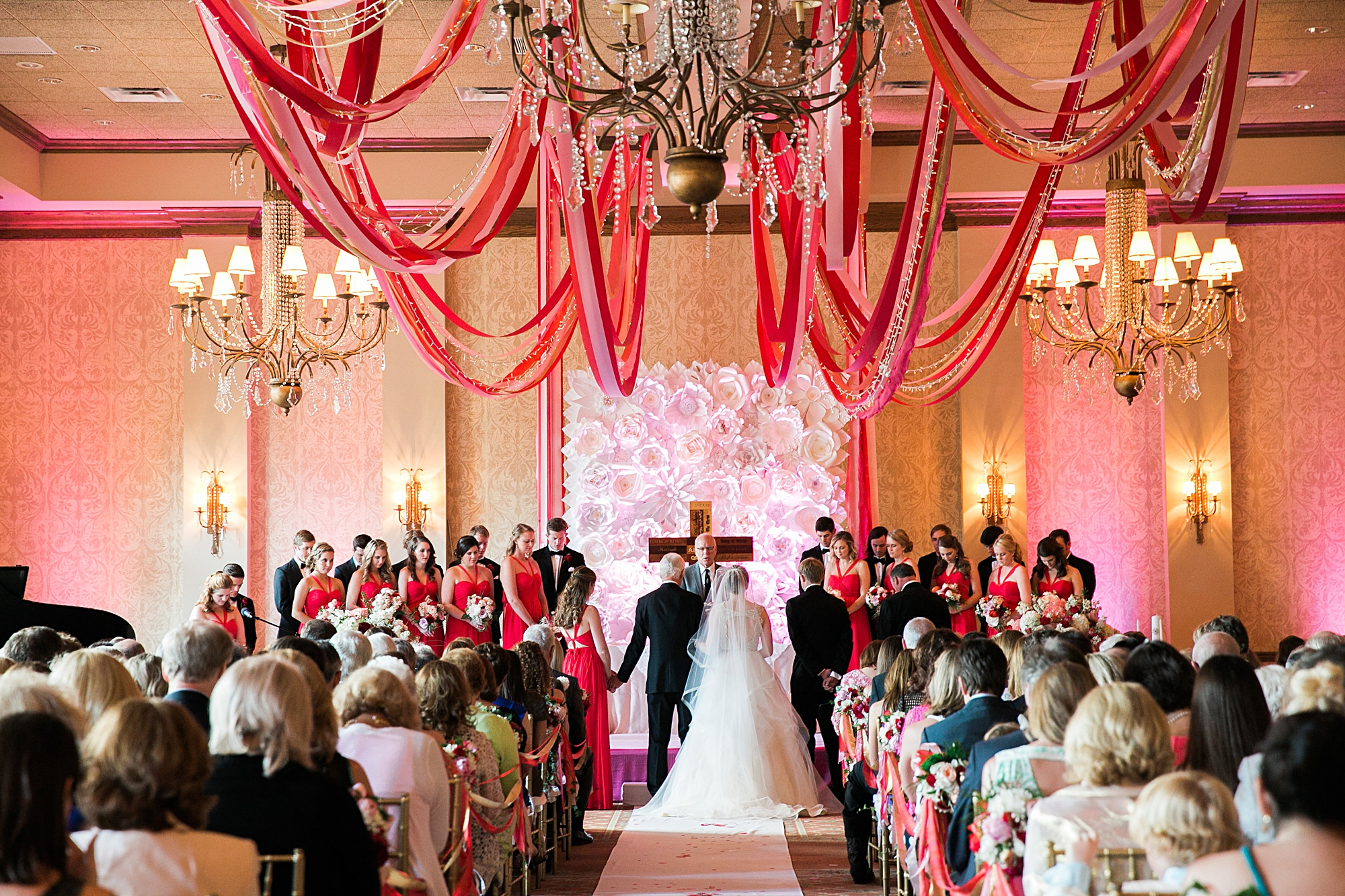 indoor ballroom ceremony at country club of orlando