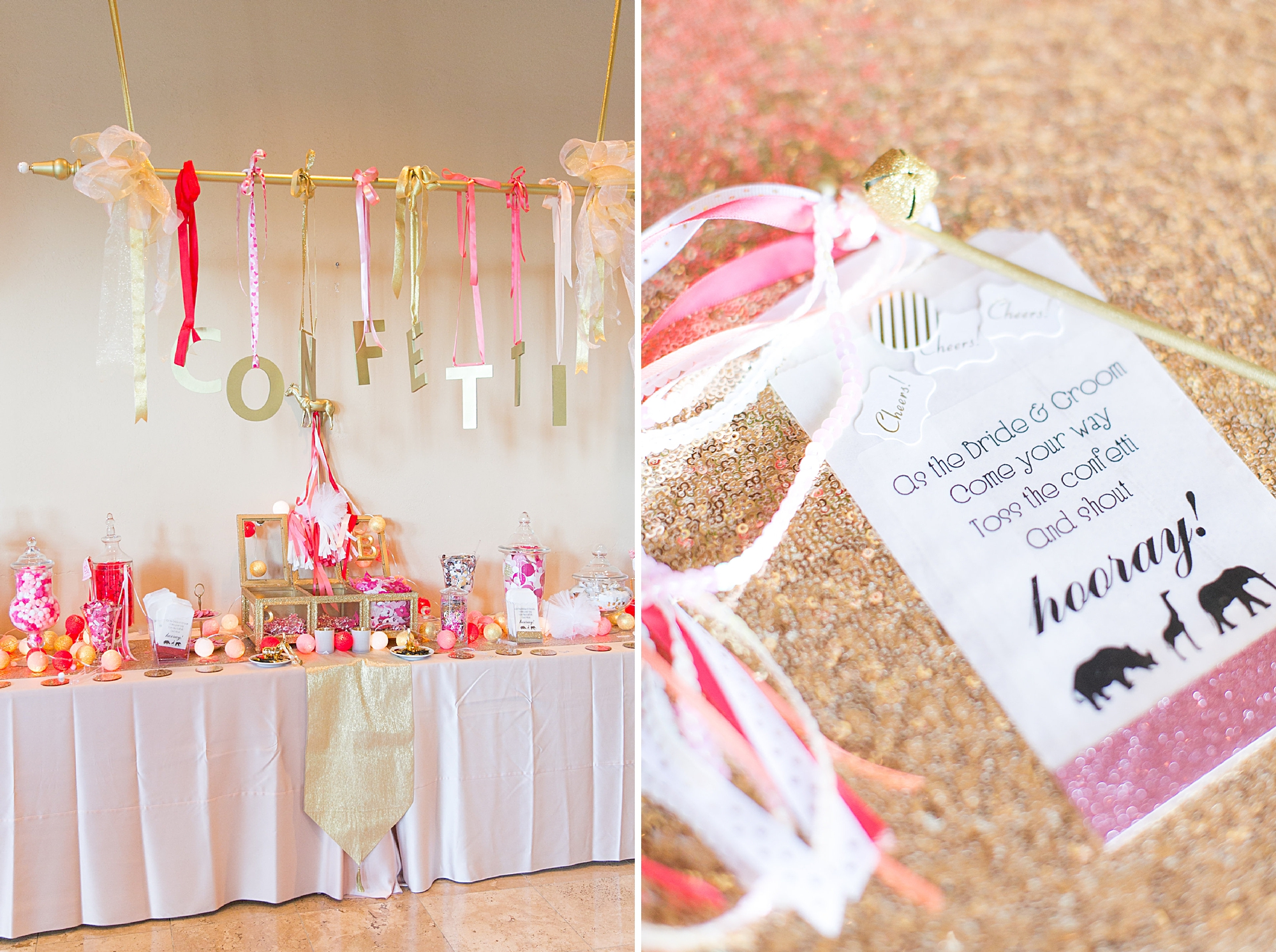 confetti and candy bar