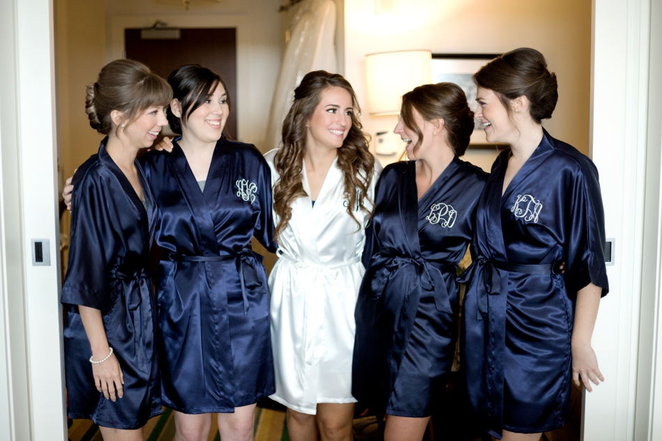navy blue bridesmaids robes