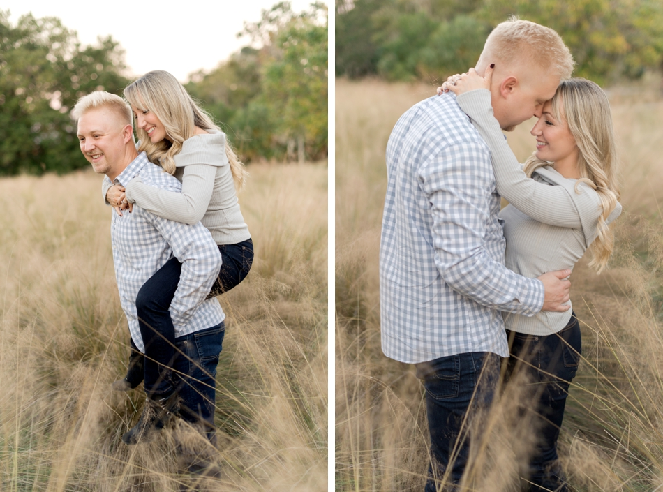 engagement photos in orlando field