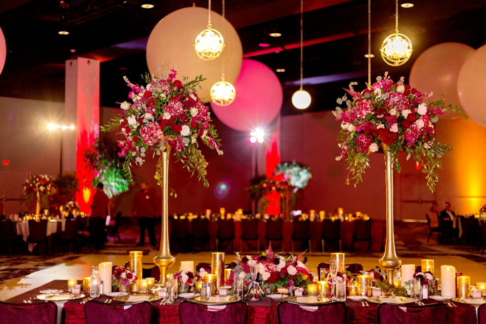 modern red and gold wedding ideas