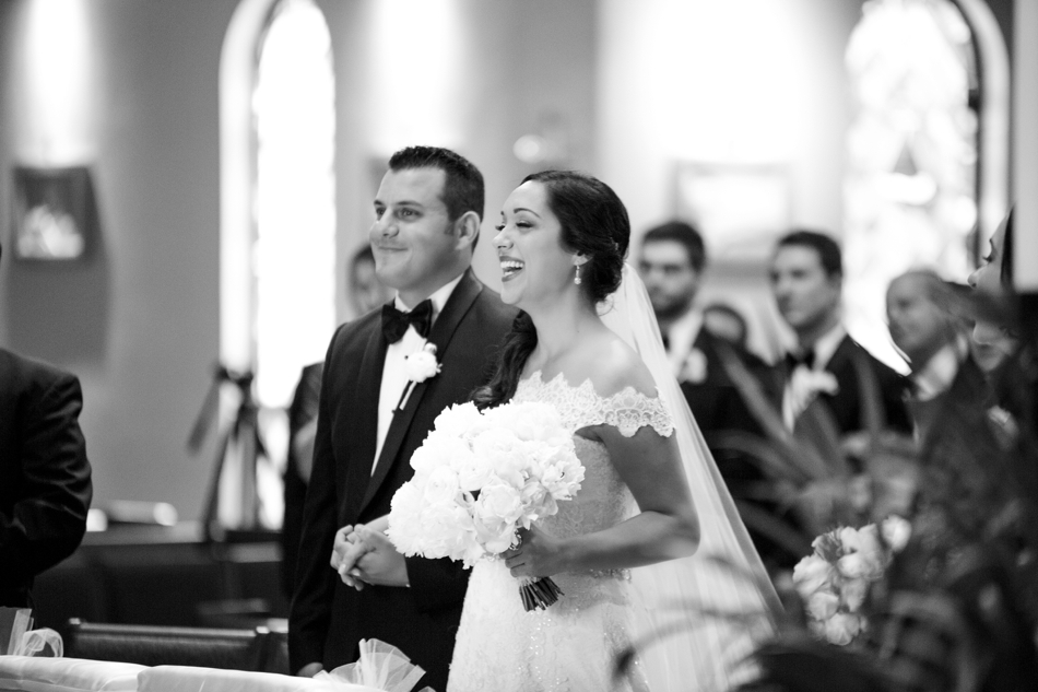 espiritu santo catholic church wedding ceremony