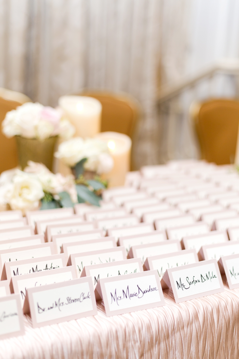 hand written escort cards