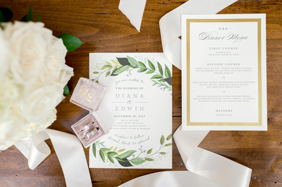 ivory and gold wedding stationery