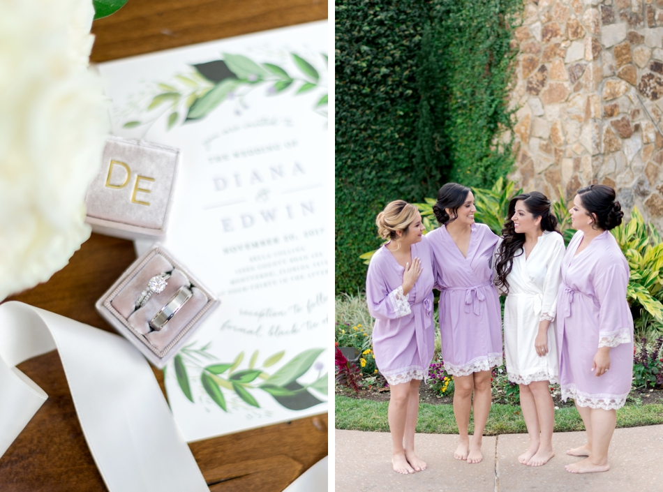 lavender bridesmaids robes