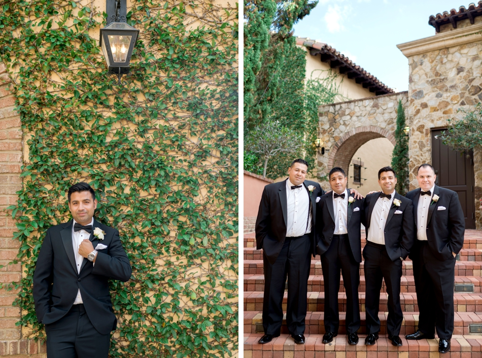 groomsmen at bella collina