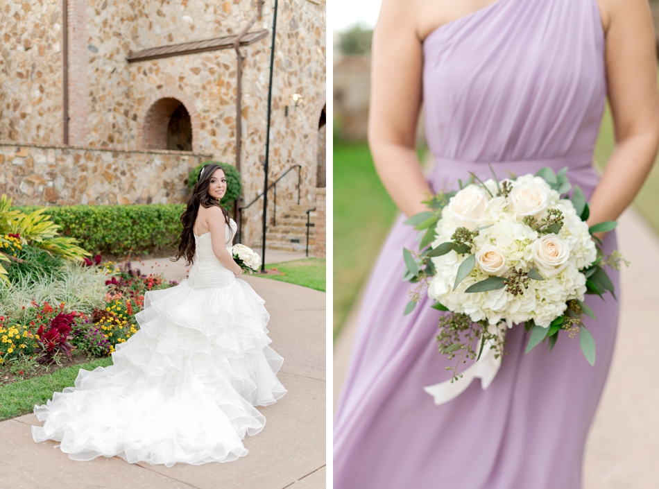 lavender bridesmaids gowns