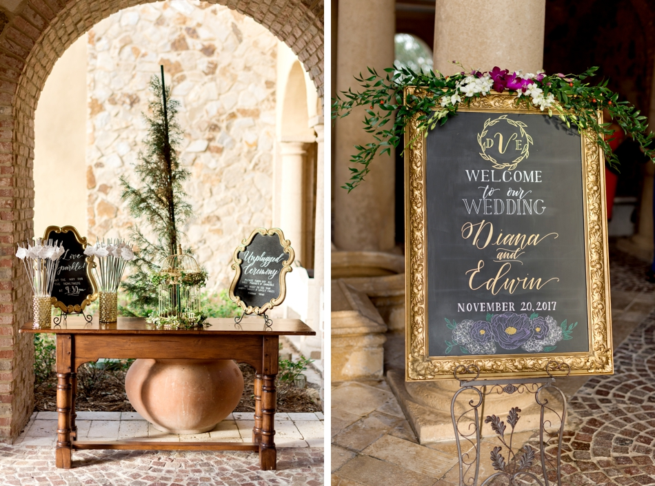 chalkboard signs for wedding ceremony